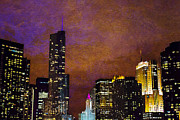 Jeanette Brown - Chicago Skyline In Jewel...