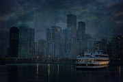 Boat Cruise Posters - Chicago Skyline Poster by Joel Witmeyer