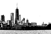 Chicago Photography Originals - Chicago Skyline  by Melissa Poirier