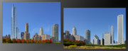 Two Towers Framed Prints - Chicago Skyline of Superstructures Framed Print by Christine Till