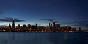 Chicago Photography Posters - Chicago Skyline Panorama Poster by Andrew Soundarajan
