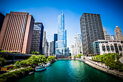 Michigan Art - Chicago Skyline Photo with Trump Tower by Paul Velgos