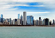 Chicago Photography Posters - Chicago Skyline Poster by Skip Willits