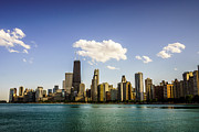 Gold Coast Posters - Chicago Skyline with Downtown Chicago Buildings Poster by Paul Velgos