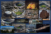 Sports Montage Posters - Chicago Sports Collage Poster by Thomas Woolworth