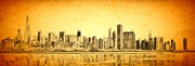 Willis Tower Digital Art - Chicago Sunrise by Dejan Jovanovic