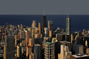 Birds Eye View Framed Prints - Chicago - That famous skyline Framed Print by Christine Till