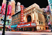 Illinois Digital Art Framed Prints - Chicago Theater - 23 Framed Print by Ely Arsha