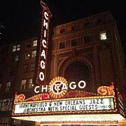 Bulls Photo Prints - Chicago Theater Print by Mike Maher
