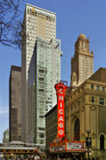 Retro Metal Prints - Chicago Theatre - This theater exudes class Metal Print by Christine Till