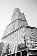 In-city Framed Prints - Chicago Trump Tower in Black and White Framed Print by Paul Velgos