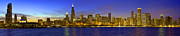 Donald Prints - Chicago Ultrawide Panorama Sunset Print by Donald Schwartz