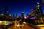 Columbus Drive Photos - Chicago - View From the BP Bridge by Greg Thiemeyer