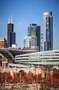Chicago Art - Chicago with Soldier Field and Sears Tower by Paul Velgos