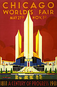 Business-travel Digital Art Prints - Chicago Worlds Fair Print by Nomad Art And  Design
