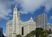 Magnificent Mile Framed Prints - Chicago - Wrigley Building Framed Print by Christine Till