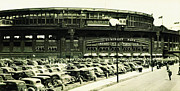 Whitesox Prints - Chicagos Comisky Park Print by Digital Reproductions