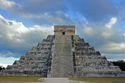 Dark Cloud Prints - Chichen Itza and Dramatic Sky Print by Charline Xia