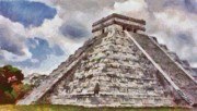 Summer Digital Art Metal Prints - Chichen Itza Metal Print by Jeff Kolker