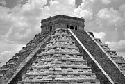 Black And White Photography Painting Metal Prints - Chichen Itza Metal Print by Kirt Tisdale