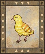 Chicken Prints - Chick Two Print by Linda Mears