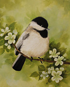 Becky Paintings - Chickadee-dee-dee by Becky West