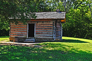 Civil War Battle Site Photo Posters - Chickamauga Cabin Poster by Elvis Vaughn