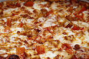 Thin Prints - Chicken And Diced Tomato 2 - Pizza - Pizza Shoppe Print by Andee Photography