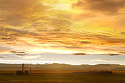 Silos Metal Prints - Chicken Farm Sunset 2 Metal Print by James Bo Insogna