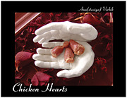 Floral Sculpture Posters - Chicken Hearts Poster by Anastasiya Verbik