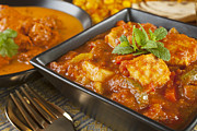 Banquet Photo Metal Prints - Chicken Jalfrezi Curry Metal Print by Colin and Linda McKie