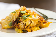 Shredded Prints - Chicken Tamale Casserole 3 Print by Leigh Anne Meeks