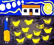 Celtic Mixed Media - Chickens On The Farm 2 by Patrick J Murphy