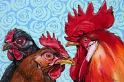 Colorfull Paintings - Chickmeeting by Erlinde Ufkes Stephanus