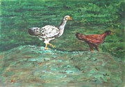 Chicks Print by Usha Shantharam