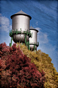 Chico Framed Prints - Chico Water Towers Framed Print by Kathleen Gauthier