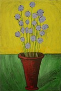 Outsider Art Paintings - Chicory by Flavia Deluce by Catherine Rose Chiara