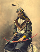 Oglala Posters - Chief Bone Necklace Oglala Lakota Poster by Heyn Photo