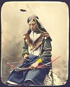 Lakota Prints - Chief Bone Necklace - Sinte Print by Pg Reproductions