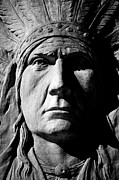 Native Stone Framed Prints - Chief Greystone  Framed Print by Jerry Cordeiro