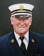 Fireman Paintings - Chief Haber by Paul Walsh