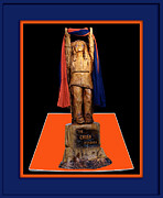 Football Photographs Posters - Chief Illiniwek University of Illinois 02 Poster by Thomas Woolworth