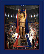 Football Photographs Posters - Chief Illiniwek University of Illinois 03 Poster by Thomas Woolworth