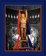 Football Photographs Posters - Chief Illiniwek University of Illinois 04 Poster by Thomas Woolworth