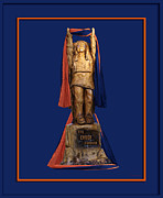 Mascots Digital Art Posters - Chief Illiniwek University of Illinois 05 Poster by Thomas Woolworth