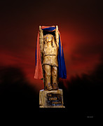 Mascots Digital Art Prints - Chief Illiniwek University of Illinois 06 Print by Thomas Woolworth