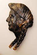 Joseph Sculptures - Chief Joseph by Larry  Lefner
