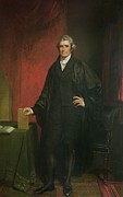 Justice Painting Prints - Chief Justice Marshall Print by Chester Harding