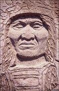 Iron Sculpture Framed Prints - Chief-Kicking-Bird Framed Print by Gordon Punt