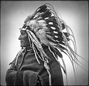 Indian Tribes Prints - Chief Lazy Boy - 1918 Print by Daniel Hagerman